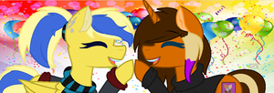 Birthday Twins! by FlyingArtist-VGS