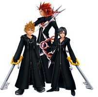 Axel, Xion, and Roxas by Autocon-Femme