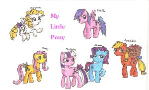 My Little Pony Original Mane Six by KoshiDayuganCherry