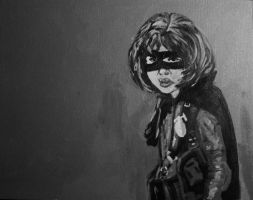 Grayscale Hit Girl by Cydel