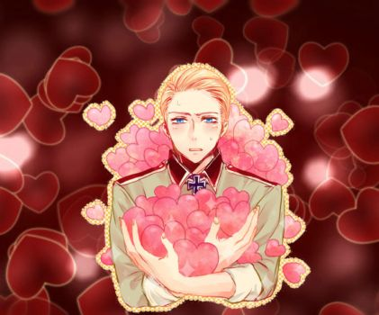 Hetalia Axis Powers Germany Happy Valentines Day by Ninjagirl16100