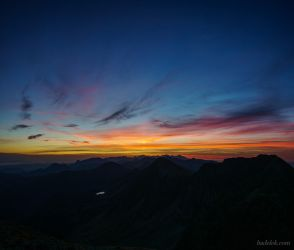 Sunrise in Western Tatras by Dunadan-from-Bag-End