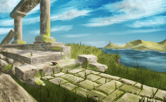Ruined Temple by GodZmc