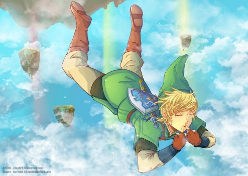 -- Collab: Link Skyloft Jump -- by Kurama-chan