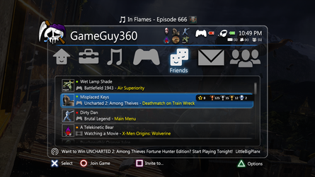 New In Game XMB Mock Up by xGameGuy360x
