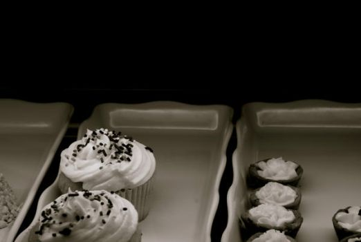 sprinkles black and white by Fayde2Memory