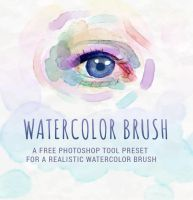Realistic Watercolor Brush Tool Preset by Jelly-716