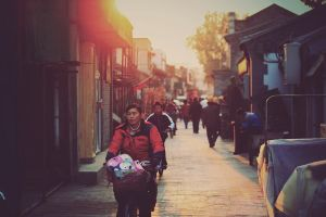 Sunset in the Hutong by ornie