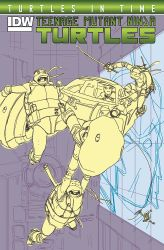 Turtles in Time the unused cover rough by dan-duncan