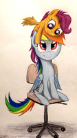 Scootaloo is Best Hat......and Sister! (Brighter) by TheFriendlyElephant