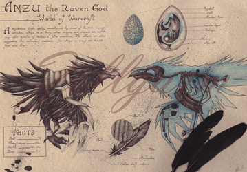 Anzu the Raven God - World of Warcraft by Zellgarm