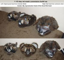 Completed Rat Mask Commission by RaptorArts