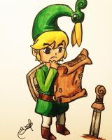 Toon Link The Minish Cap by Inkstandy