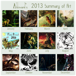 2013 Summary of Ahkward Art by Ahkward