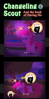 Changeling Scout And The Book Of Daring Do 28 by vavacung