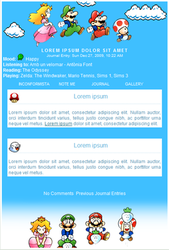 Super Mario Bros journal css by rum-and-ginger