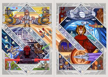 Star Wars: Episode I - The Phantom Menace by breath-art