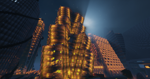 Minecraft: City at Night by Neutral-Dreamer