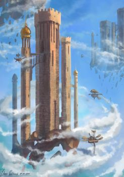 Aerial fortress by 1Ver4ik1