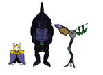 UT oc Beetavros (and Asgore) by Redspets