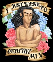 I Just Want to Objectify Men by kytri