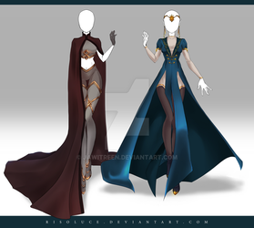 (CLOSED) Adoptable Outfit Auction 200 - 201 by JawitReen