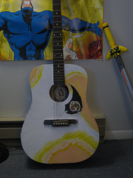 painting a guitar -oranges- by not-fun