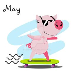 Piggy for every month in 2019 May by Krav1tzz