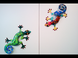 Colored Lizards by thales-img