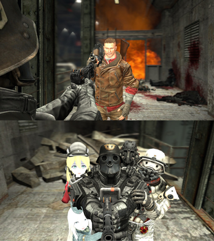 B.J. Blazkowicz visits The Wolfenstein Order by makeoooohDE