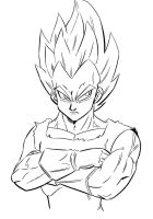 Warm up Vegeta by Chauvels