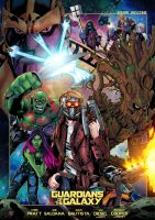 Guardians of the galaxy by LiamShalloo