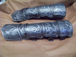 assassins creed vambrace 2 by MerrillsLeather