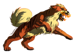 Growlithe used Fire Fang! by DragonchildX