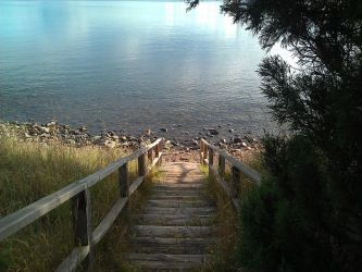 I love how these stairs lead straight to the water by ecc0w0lf