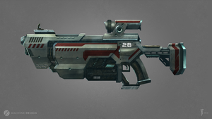 Sci-fi rifle concept by MiryAnne