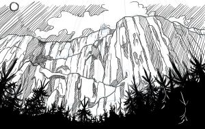 My Comic Project - Panel 1 sketch by KatLouhio