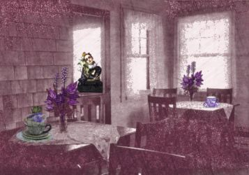 Tea Shop with Poisonous Flowers by Chlodulfa