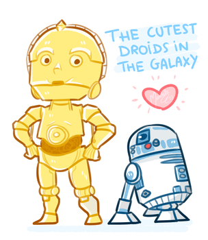 The cutest Droids in the Galaxy!! by Marshellle