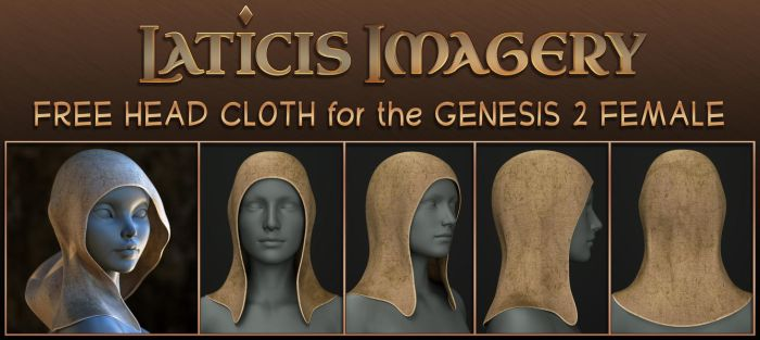 Laticis Imagery FREE - G2 Female - Head Cloth by Laticis