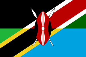 Combined flag of language: Swahili by hosmich