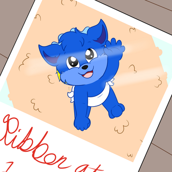 Ribbon the blue Noopling (CM) by tailslover42