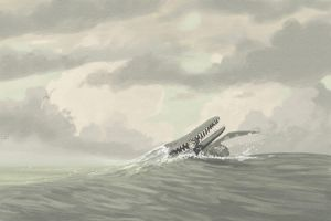 Kronosaurus and Leptocliedus by jconway