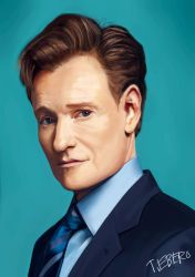 Portrait: Conan O'Brien by Gintijd