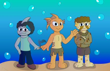 Gift: Phy's Fishies by ShadowtheCartoonist