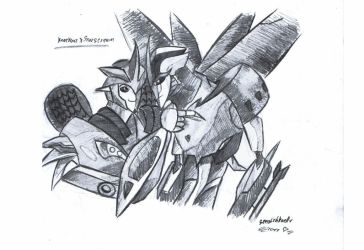 Knockout x Starscream by MoonRayCZ