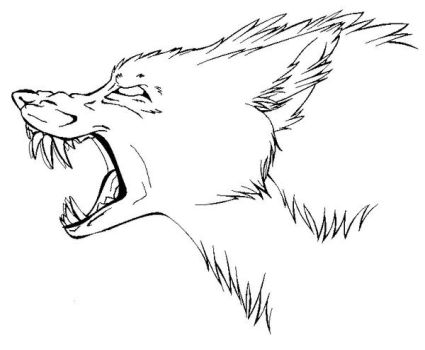 Mutant Wolf Lineart by Demonic-Pokeyfruit