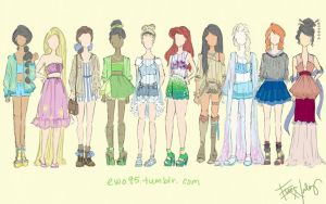 Disney Princess: Summer Fashion by Ellphie