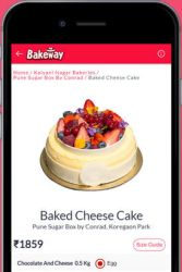 Order Cake Online by Bakeway
