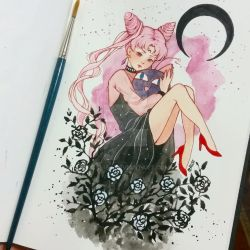 Black Lady Chibiusa by Ross-86